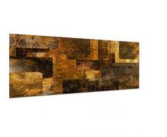 Panoramabild auf Leinwand und Keilrahmen 150x50cm Kunst abstrakt Grunge Hintergrund