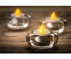 Goobay 4er Set LED Teelichter, weiß - wunderschöne und sichere Lichtlösung für viele Bereiche wie Haus und Loggia, Büros, Schulen oder Seniorenheime