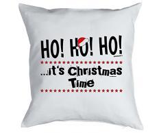 Goodman Design Kissen mit coolem weihnachtsmotiv - HO HO HO .Its Christmas Time - Geschenk - Zierkissen für Couch und Bett