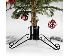 Bosmere G452 Traditionellen Weihnachtsbaumständer 4 Zoll, schwarz