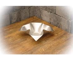 Design Schale aus Vinyl (Silber lackiert) // Dekoschale
