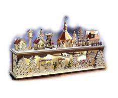 Davartis Lichtersockel Weihnachtsdorf Seiffen mit LED Beleuchtung aus Holz
