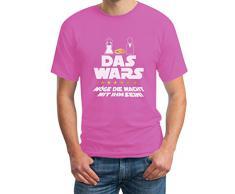 Junggesellenabschied T-Shirt JGA Bachelor Party Outfit - Das Wars Möge Die Macht Mit Ihm Sein T-Shirt Large Rosa