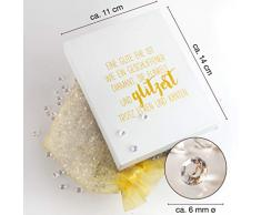 WeddingTree 3000 Dekosteine 6 mm - Diamanten Deko in Organza Säckchen und Box - Tischdeko Hochzeit Streudeko