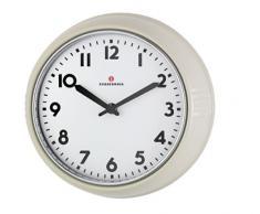 Zassenhaus 72730 Retro Wand-Uhr, Durchmesser 24 cm, creme