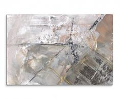 Paul Sinus Art 120x80cm Leinwandbild Leinwanddruck Kunstdruck Wandbild grau schwarz weiß Schlieren