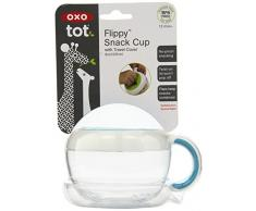 Oxo Tot Flippy Snackschale, Aquablau
