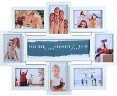 Henzo 8121502 Friends Gallery 8 Frame Galerierahmen, Plastik, weiß, 56.0 x 45.0 x 2.5 cm