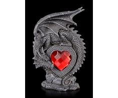Gothic Drachen Figur - Laetificat mit rotem Herz   Geschenk Liebe Fantasy