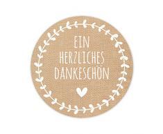Geschenktüten Set - 24 braune Papiertüten mit 24 Aufklebern und 24 Holzklammern - Papiertüte 16,5 x 26 cm - TOP QUALITÄT aus Deutschland von KuschelICH (Dankeschön)