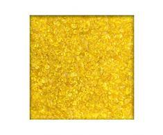 1 kg Glaskies Glasgranulat Streudeko Tischdeko Dekosteine Glasdeko Nuggets 6-9mm Gelb