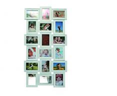 Out of the blue 94/2370 Weißer Kunststoff-Bilderrahmen, circa 103 x 53 cm für 9 Fotos 10 x 15 cm und 9 Fotos 15 x 10 cm