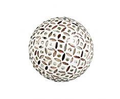 TFC 51 9332152 Dekokugel Mosaik ws/rosa ø8cm (1 Stück)