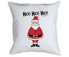 Happy Kissen mit Füllung für Weihnachten: Frohe Weihnachten, Ho! Ho! Ho! Weihnachtsmann/ Santa Claus - Goodman Design ®