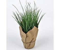 Gras Deko Kunstblume Kunstpflanze Tischdeko