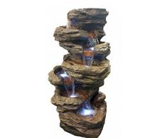 Toller Zimmerbrunnen Steinoptik mit Led Lampe Raumbelüfter 28 cm