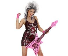 NET TOYS Aufblasbare Gitarre Deko Luftgitarre Rock Rocker Inflatable Guitar Rockstar Gummigitarre Party Gitarren Instrument Mottoparty Musikinstrument Accessoire Partydeko aufblasbar