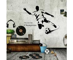 Walplus Wand Sticker Schlag Entfernbarer selbstklebend Wandkunst Aufkleber Vinyl Wohndeko DIY Wohnzimmer Schlafzimmer Büro Dekor Tapete Kinderzimmer Geschenk, Mehrfarbig
