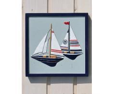 Wandbild Boote Bild Segelboot Maritim 20x20cm
