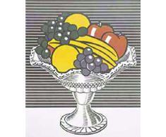 1art1 41232 Roy Lichtenstein - Stilleben: Eine Schüssel Aus Kristall, 1973 Poster Kunstdruck 87 x 68 cm