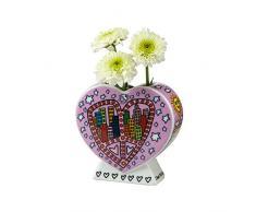 Goebel 26100388 Peace And Love in My City Vase, Porzellan, bunt, 9 x 4 x 8,5 cm