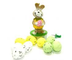 Kerze Oster Hase mit Ostereiern zu Ostern für zu Hause mit bunten Eiern