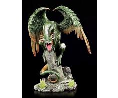 Große grüne Drachenfigur - Green Wings - Drache Figur