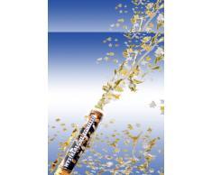 2 x silbener Konfetti Regen Kanone Shooter Konfettibome Partypopper 40 cm lang Hochzeit