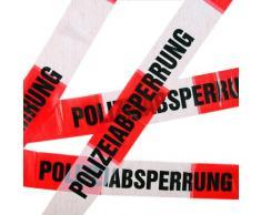 10 Meter Absperrband * POLIZEI * für Kindergeburtstag und Motto-Party // Absperrung Deko Dekoration