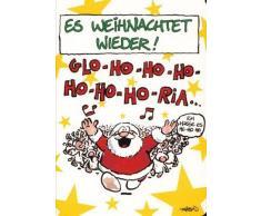 Weihnachtskarte Singender Weihnachtsmann