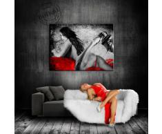 Bild auf LEINWAND AKT EROTIK GIRL abstrakt verschiedene Größen wählbar!!! gerahmt fertig auf HOLZRAHMEN Kunstdruck Wandbild auf Rahmen günstiger als Ölbild Gemälde/Poster/Plakat/kein Poster oder Plakat (70x50cm)