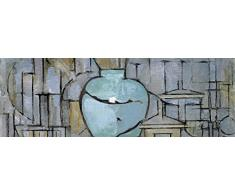 1art1 86621 Piet Mondrian - Stilleben Mit Ingwertopf, 1912 Poster Leinwandbild Auf Keilrahmen 150 x 50 cm