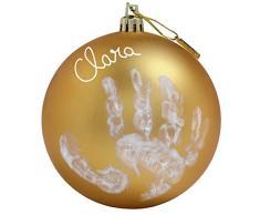 Baby Art Christbaumkugel mit Handabdruck, 0M+, 10cm, My Christmas Fairy, gold