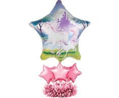 Fantasie-Einhorn-Folienballon Tafelaufsatz Kit.