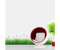 Walplus Wandsticker Aufkleber Papierkunst Dekoration Kinderzimmer Farbenfrohe Marienkäfer Gras Wohnzimmer