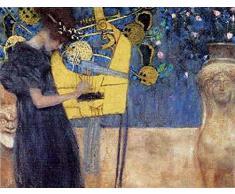 1art1 35331 Gustav Klimt - Die Musik 1895 II Poster Kunstdruck 80 x 60 cm
