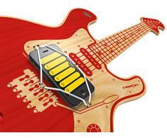 Woodrocker, the smart guitar - mit Gratis APP: Diese Luftgitarre funktioniert mit deinem Apple® iPhone® oder iPod® touch ab iOS8 (Rot)
