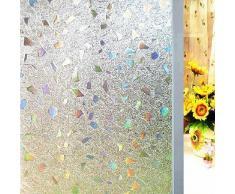 Aingoo 3D brechende bunte Edelsteine Sonnenschutzfolie Selbstklebende Fensterfolie 019