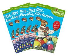 Heitmann Eierfarben 4102AMZ - Iris Eierfarben zum Kochen, 5er Set