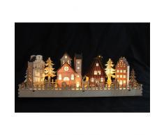 Holz-Weihnachtsdorf mit LED Beleuchtung