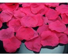 100 Rosenblätter aus Stoff pink fuchsia Hochzeit Streublumen Blumenkinder Rosenblüten Tischdeko