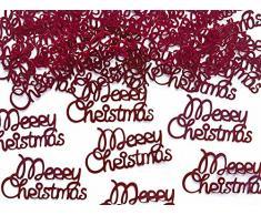 Konfetti Streudeko für Weihnachten : Merry Christmas in rot Tüte mit 3 gr.