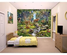 Walltastic 43060 Tiere des Waldes, Tapete, Wandbild, Paper, bunt, 52,5 x 7 x 18,5 cm