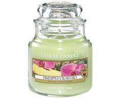 YANKEE CANDLE Classic Housewarmer Klein, Pineapple Cilantro, Duftkerze, Raum Duft im Glas/Jar, 1174263E