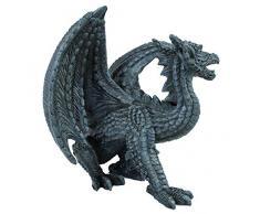 colourliving Drachen Figur Dekoration Drache fauchend Fantasy Figur Gothic Dekoration