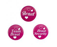 Oblique-Unique® Braut Hochzeit Junggesellenabschied Sticker Buttons (Team Braut)