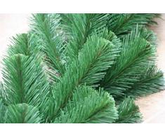 2,7m Tannengirlande Ø ca. 20 - 40cm grün // Außen Innen Weihnachtsdeko künstliche Weihnachtsgirlande Kunststoff