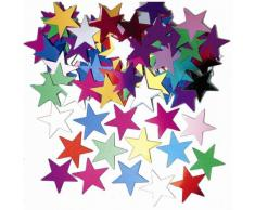 amscan Konfetti Jumbo-Sterne metallic