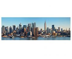 Leinwandbild New York City Skyline B x H: 160cm x 50cm von Klebefieber®