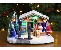 Christmas Concepts® 938/5000 LED leuchtet im Weihnachtsdorf - 8/ 20cm (Bratwurstladen)